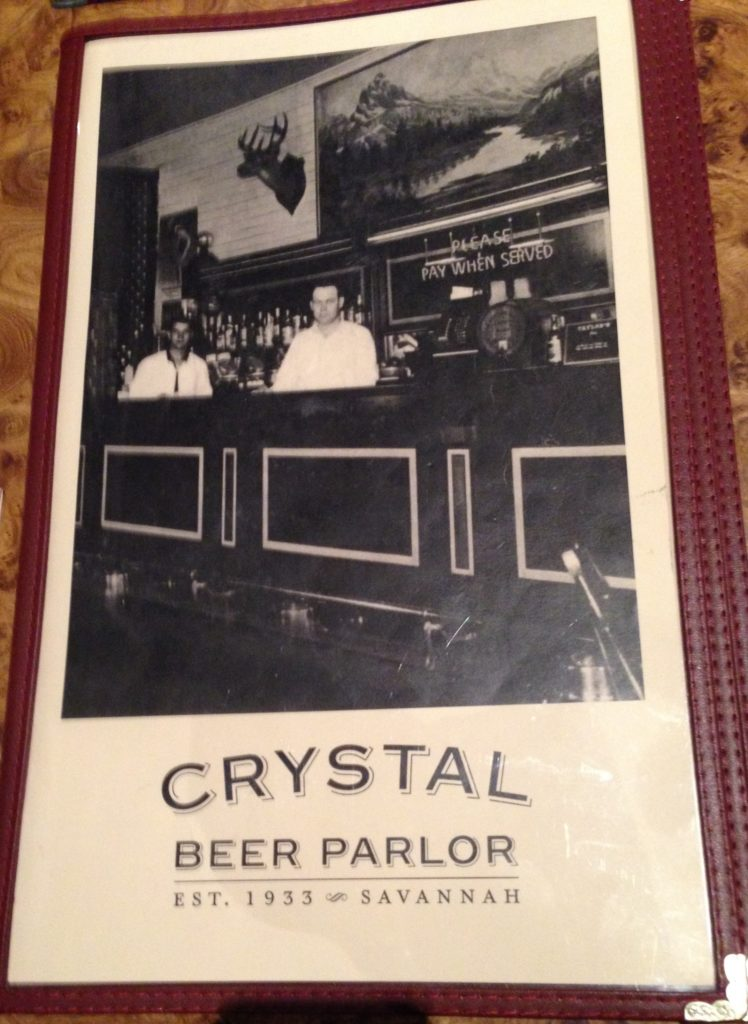 The Oldest Restaurant In Savannah The Crystal Beer Parlor